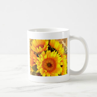 Beaux cadeaux de bouquet de tournesol tasse