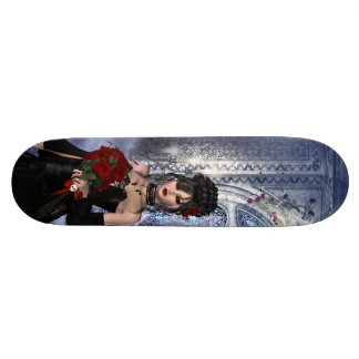 Beaux fille, roses et bougies gothiques skateboard 20,6 cm