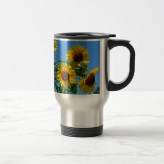 Beaux tournesols jaunes mugs à café