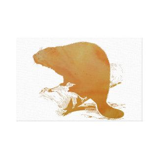 Beaver Art Canvas Print