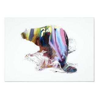 Beaver Art Card