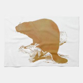 Beaver Art Kitchen Towel