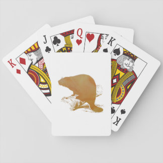 Beaver Art Playing Cards