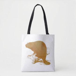 Beaver Art Tote Bag