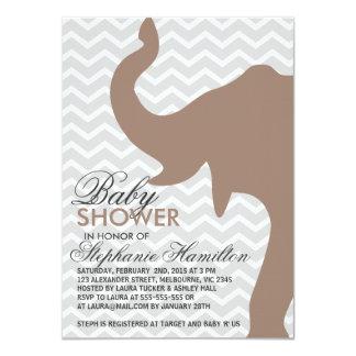 "Beaver big elephant baby shower 4.5"" x 6.25"" invitation card"