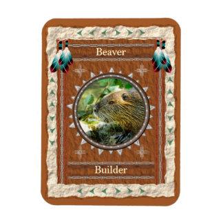 Beaver -Builder- Vinyl Flexi Magnet