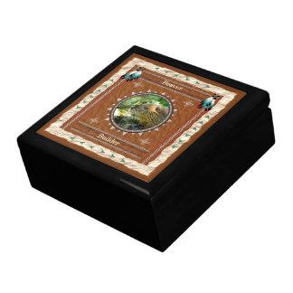 Beaver -Builder- Wood Gift Box w/ Tile