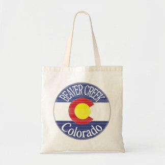Beaver Creek Colorado circle flag reusable bag