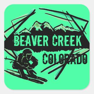 Beaver Creek Colorado sea green ski stickers