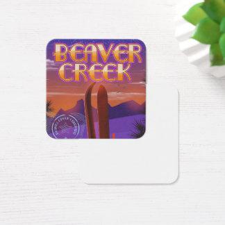 Beaver creek Colorado ski poster Square Business Card