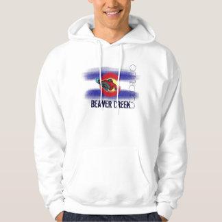 Beaver Creek Colorado snowboarder flag hoodie