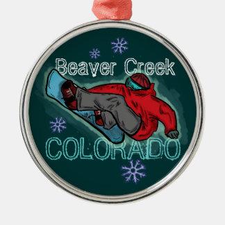 Beaver Creek Colorado snowboarder ornament
