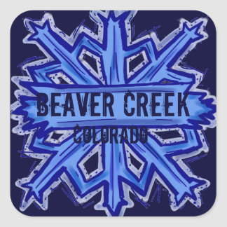 Beaver Creek Colorado snowflake stickers