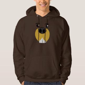 Beaver Face Hoodie