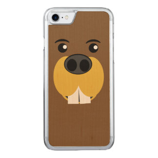 Beaver Faced Carved iPhone 7 Case