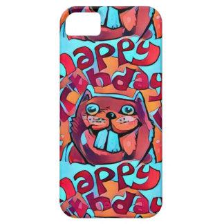 beaver happy birthday cartoon style illustration case for the iPhone 5