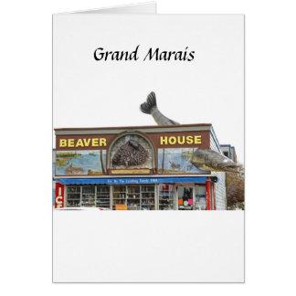 Beaver House Card