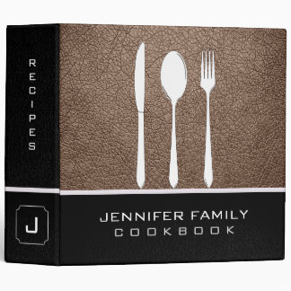 Beaver Leather Family Cooking Binder