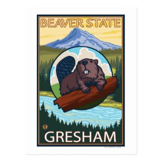 Beaver & Mt. Hood - Gresham, Oregon Postcard