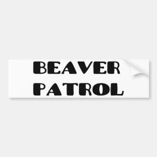 Beaver Patrol Bumper Sticker