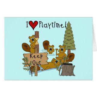 Beaver Playtime Card
