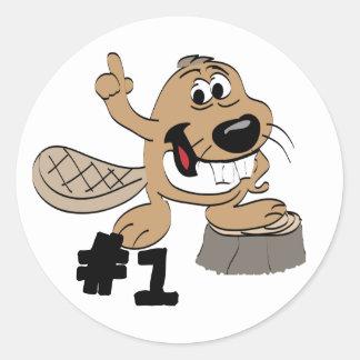 Beaver Round Sticker