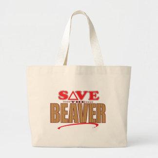 Beaver Save Large Tote Bag
