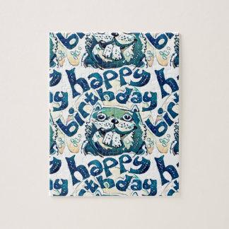 beaver say happy birthday jigsaw puzzle