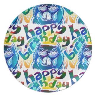 beaver say happy birthday party plates