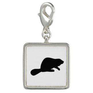 Beaver Silhouette Charm