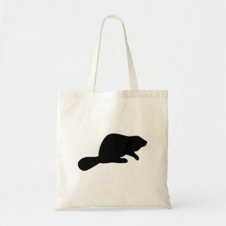 Beaver Silhouette Tote Bag