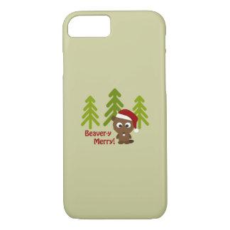 Beaver-y Merry! Cute Christmas Beaver iPhone 7 Case
