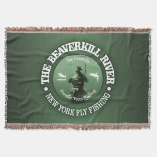 Beaverkill River (Fly Fishing) Throw Blanket
