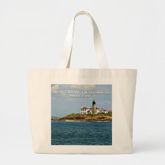 Beavertail Lighthouse, Rhode Island Large Tote Bag