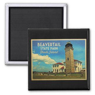 Beavertail Lighthouse Rhode Island Magnet