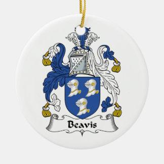Beavis Family Crest Ceramic Ornament