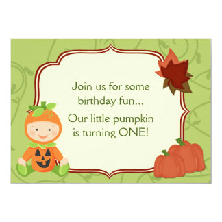 Bébé dans invitation d'anniversaire de costume de carton d'invitation  11,43 cm x 15,87 cm