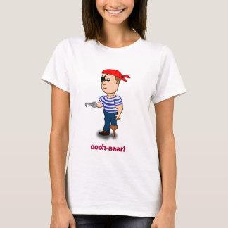 bébé de dames de pirate de Cheville-jambe - poupée T-shirt