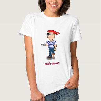 bébé de dames de pirate de Cheville-jambe - poupée Tee Shirts