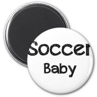 Bébé du football magnet rond 8 cm