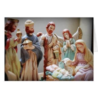 Bébé Jésus de nativité de Noël Carte De Vœux