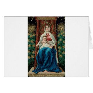 Bébé Jésus et Mary sur Noël Carte