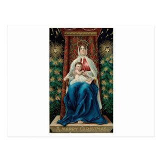 Bébé Jésus et Mary sur Noël Cartes Postales
