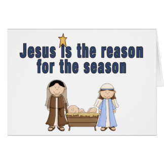 Bébé Jésus Mary Joseph de thème de Noël Carte De Vœux