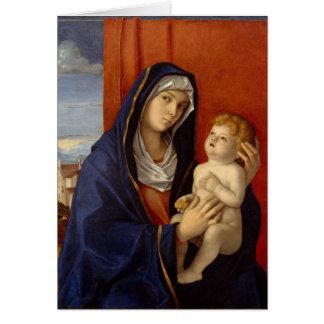 Bébé Jésus tenant la poire d'or Carte De Vœux