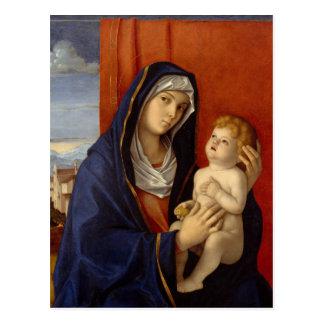 Bébé Jésus tenant la poire d'or Cartes Postales