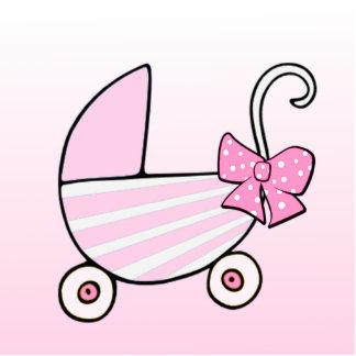 Bébé ou baby shower bienvenu de fille ornement photo sculpture