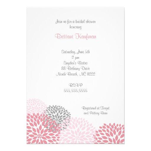 Bébé rose et gris de dahlia ou invitation nuptiale