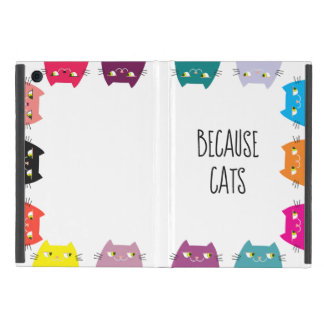 Because Cats Neon Vibrant Colors Funny Cool Modern Cover For iPad Mini