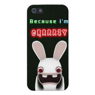 Because I'm Crazy Rabbit Cover For iPhone 5/5S